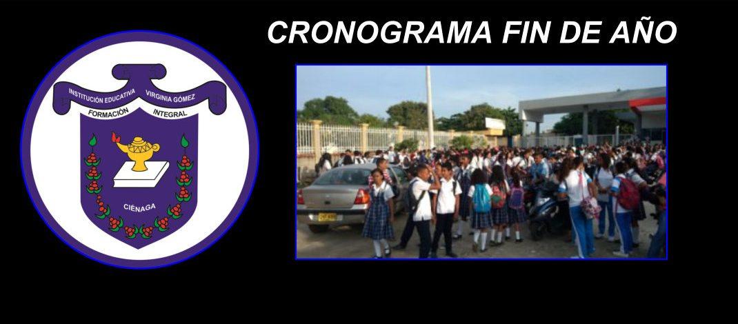 CRONOGRAMA FIN DE AÑO